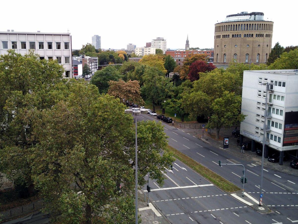 Blick vom Hotelzimmer auf Blaubach