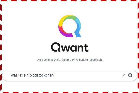 Blockstöckchen - Suche bei Qwant
