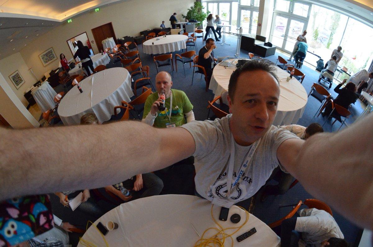 Campixx-Selfie + Björn Tantau bei der Session mit Mór Deák