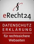 eRecht24 Siegel - Datenschutz