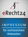 eRecht24 Siegel - Impressum