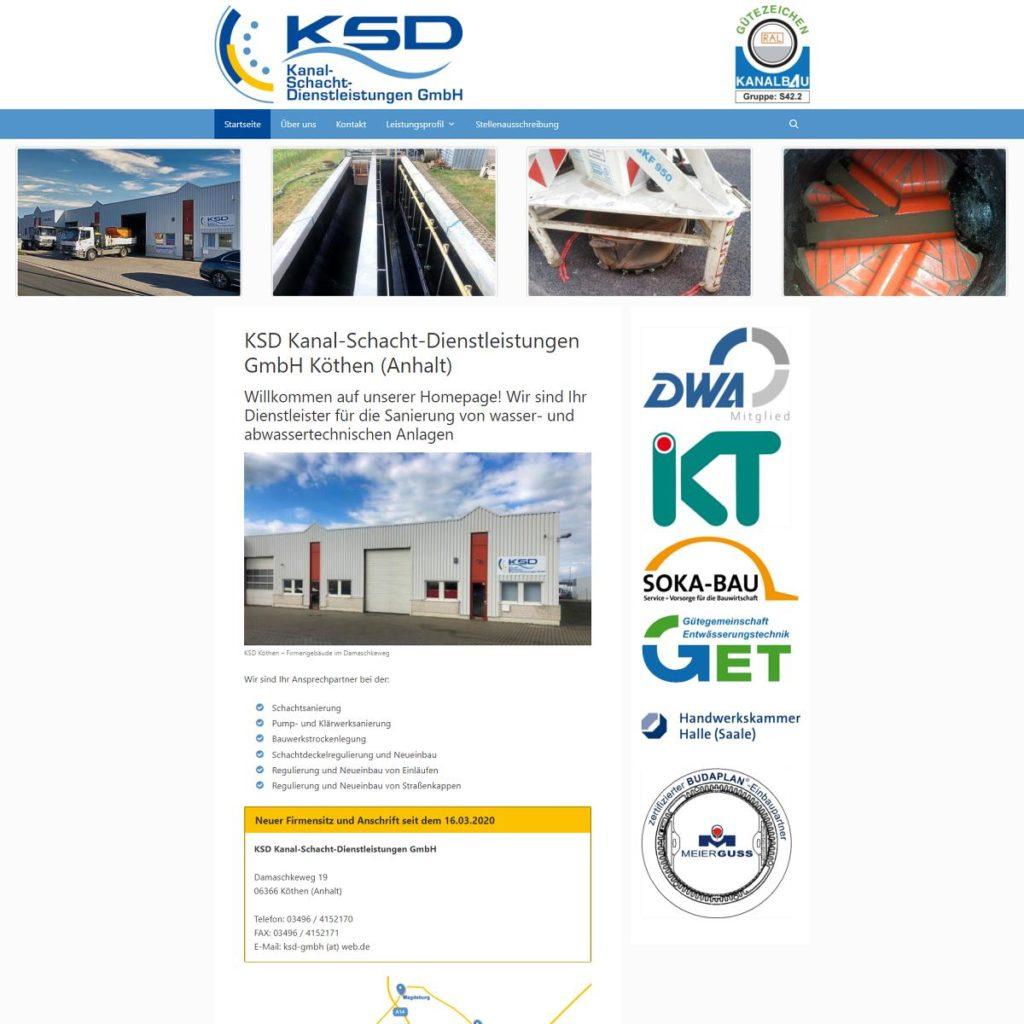 KSD Kanal-Schacht-Dienstleistungen GmbH Köthen (Anhalt)