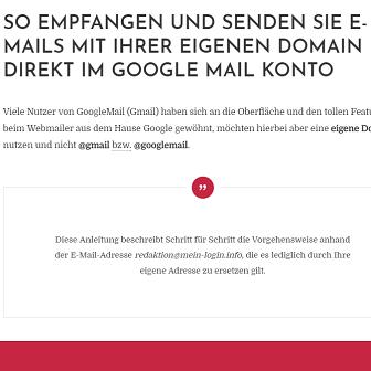 Googlemail mit eigener Domain einrichten - Maildienste