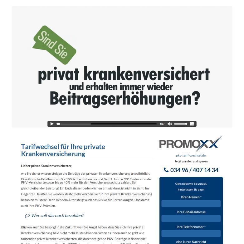 Portfolio: PKV Tarifwechsel
