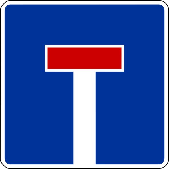 Sackgasse - Verkehrsschild (Zeichen 357)