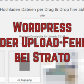 Wordpress Bilder Upload-Fehler bei Strato
