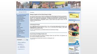 Screenshot: Homepage Flecken Adelebsen