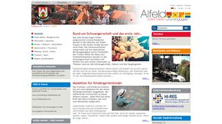 Screenshot: Homepage Stadt Alfeld