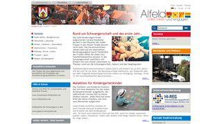 Screenshot: Homepage Stadt Alfeld