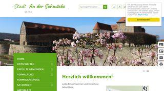 Screenshot: Homepage Stadt An der Schmücke