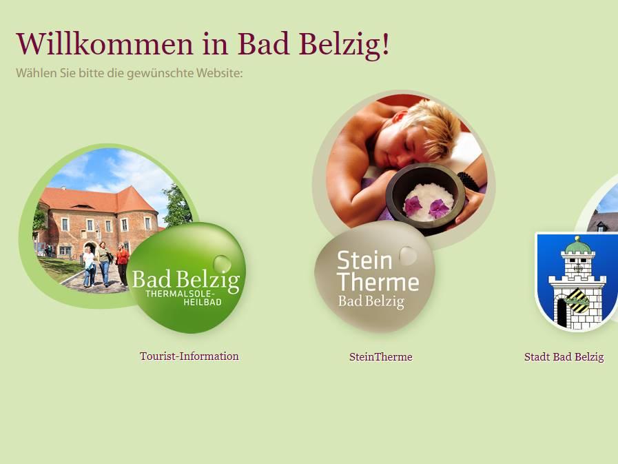 Screenshot: Homepage Stadt Bad Belzig