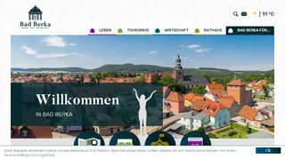 Screenshot: Homepage Stadt Bad Berka