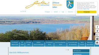 Screenshot: Homepage Stadt Bad Lauchstädt