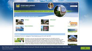Screenshot: Homepage Stadt Bad Lausick