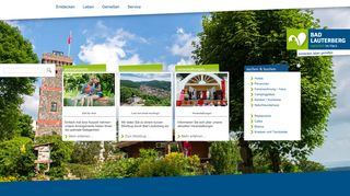 Screenshot: Homepage Stadt Bad Lauterberg