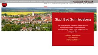 Screenshot: Homepage Stadt Bad Schmiedeberg