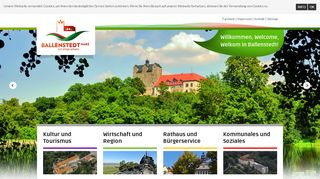 Screenshot: Homepage Stadt Ballenstedt