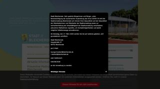 Screenshot: Homepage Stadt Bleicherode