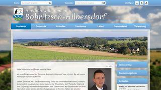Screenshot: Homepage Gemeinde Bobritzsch-Hilbersdorf