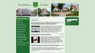 Screenshot: Homepage Stadt Böhlen