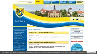 Screenshot: Homepage Stadt Borna
