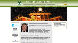 Screenshot: Homepage Gemeinde Borsdorf