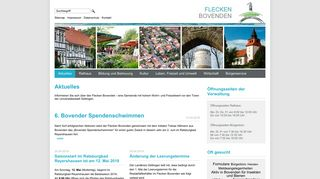 Screenshot: Homepage Flecken Bovenden