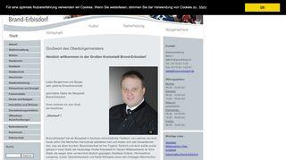 Screenshot: Homepage Stadt Brand-Erbisdorf