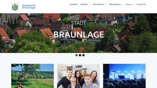 Screenshot: Homepage Stadt Braunlage