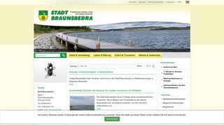 Screenshot: Homepage Stadt Braunsbedra