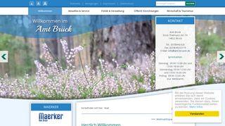 Screenshot: Homepage Stadt Brück