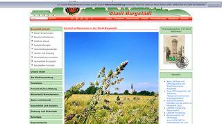 Screenshot: Homepage Stadt Burgstädt