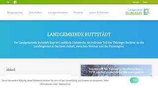 Screenshot: Homepage Landgemeinde Buttstädt