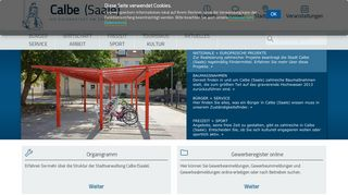 Screenshot: Homepage Stadt Calbe