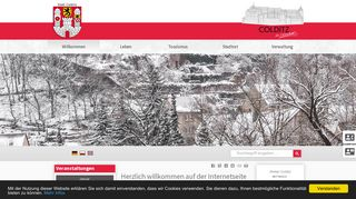 Screenshot: Homepage Stadt Colditz