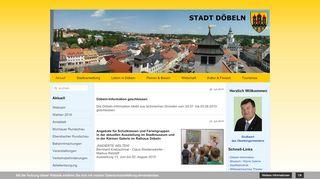 Screenshot: Homepage Stadt Döbeln