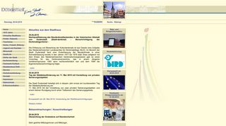 Screenshot: Homepage Stadt Duderstadt