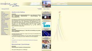 Screenshot: Homepage Stadt Duderstadt