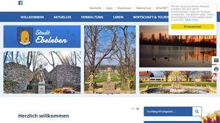 Screenshot: Homepage Stadt Ebeleben