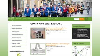 Screenshot: Homepage Stadt Eilenburg