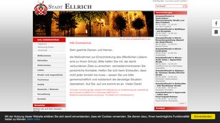 Screenshot: Homepage Stadt Ellrich