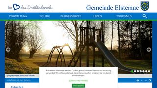Screenshot: Homepage Gemeinde Elsteraue