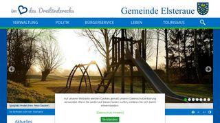 Screenshot: Homepage Gemeinde Elsteraue