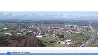 Screenshot: Homepage Gemeinde Fernwald