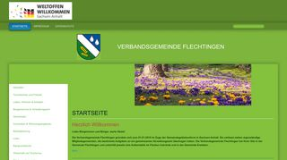 Screenshot: Homepage Verbandsgemeinde Flechtingen