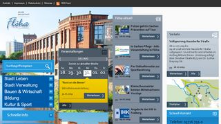 Screenshot: Homepage Stadt Flöha