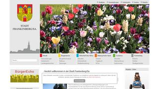 Screenshot: Homepage Stadt Frankenberg