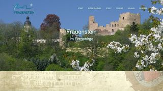 Screenshot: Homepage Stadt Frauenstein