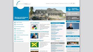 Screenshot: Homepage Stadt Freiberg