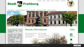 Screenshot: Homepage Stadt Frohburg